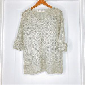 Zara Chunky Gray Knit Sweater Sz   Medium